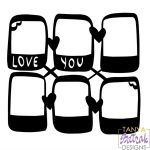 Photo Frame Love You 6 in 1