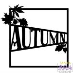 Autumn Photo Frame with Leaves