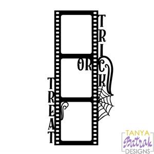 Trick Or Treat Film Frame Svg File