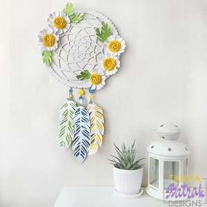 Dream Catcher With 3D Daisies