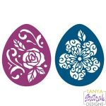 Easter Egg Stencils With Flowers