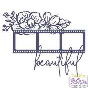 Film Photo Frame With Flowers