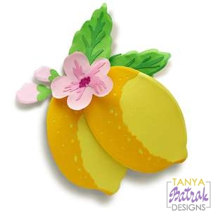 Layered Lemons With Flowers